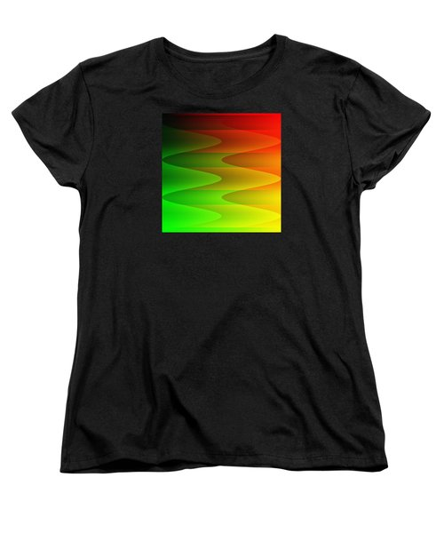 Women's T-Shirt (Standard Cut) featuring the digital art Colorful Waves by Kathleen Sartoris