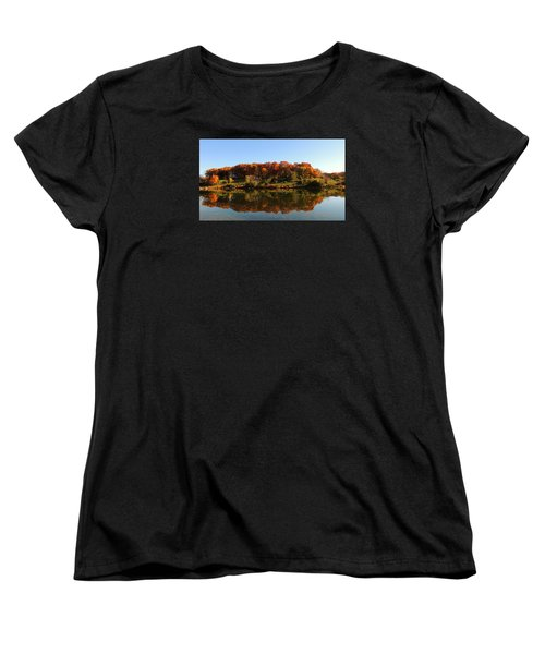 Women's T-Shirt (Standard Cut) featuring the photograph Colors Of Autumn by Teresa Schomig