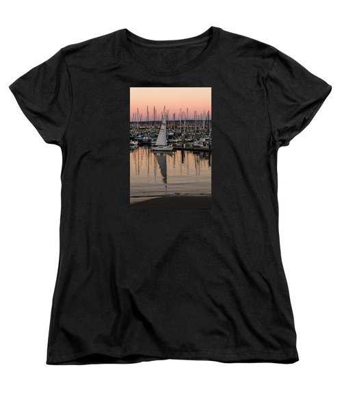 Coming Into The Harbor Women's T-Shirt (Standard Cut) by Lora Lee Chapman