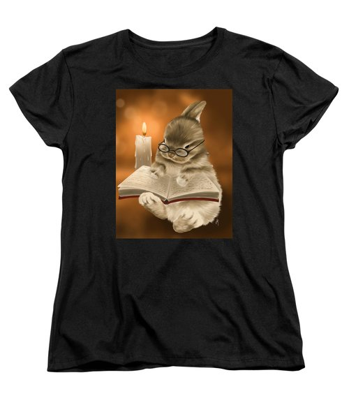 Women's T-Shirt (Standard Cut) featuring the painting Concentration  by Veronica Minozzi