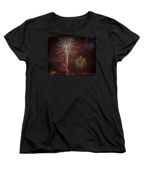 Conesus Ring Of Fire 2015 Women's T-Shirt (Standard Cut) by Richard Engelbrecht