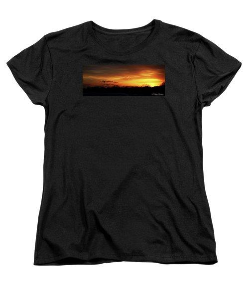 Connecticut Sunset Women's T-Shirt (Standard Cut) by Gordon Mooneyhan