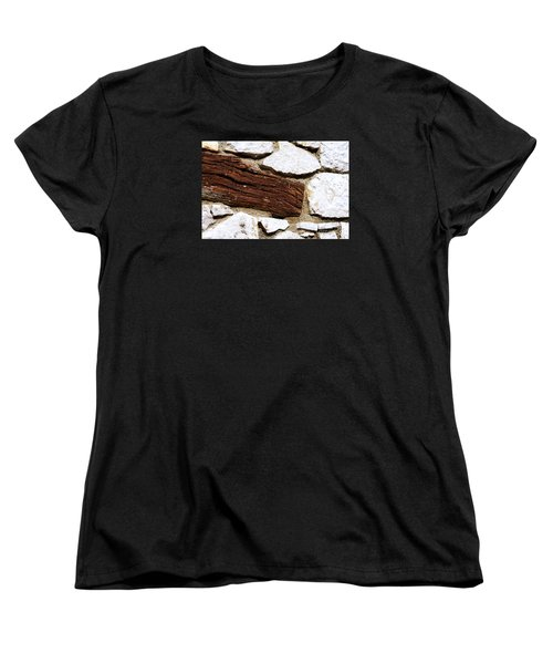 Women's T-Shirt (Standard Cut) featuring the digital art Constriction by Leo Symon