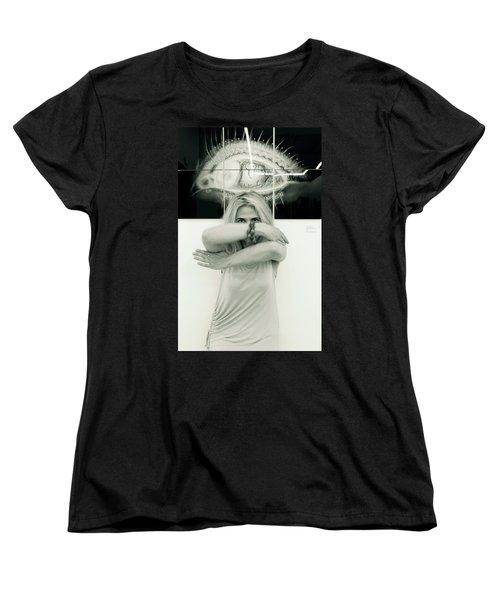 Contact Women's T-Shirt (Standard Cut) by Yelena Tylkina