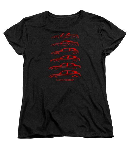 Contemporary Lombard  Silhouettehistory Women's T-Shirt (Standard Cut) by Gabor Vida