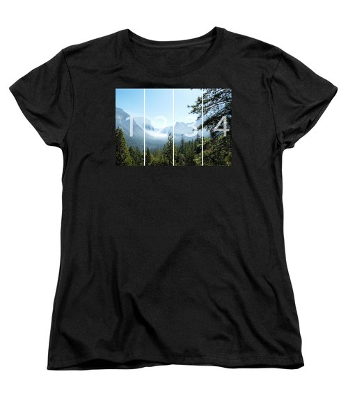 Controlled Burn Of Yosemite Panoramic Map Women's T-Shirt (Standard Cut) by Michael Bessler