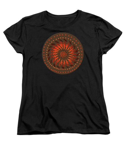 Women's T-Shirt (Standard Cut) featuring the painting Coober Pedy by Linda Lees