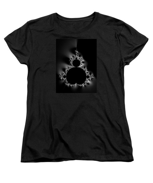 Cool Black And White Mandelbrot Set Women's T-Shirt (Standard Cut)