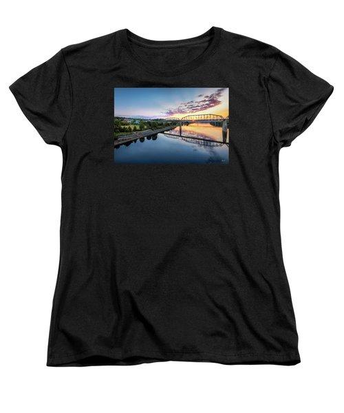 Coolidge Park Sunrise Women's T-Shirt (Standard Cut) by Steven Llorca
