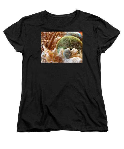 Women's T-Shirt (Standard Cut) featuring the photograph Coral And Shells by Trena Mara