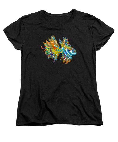 Cosmic Guppy Women's T-Shirt (Standard Cut) by Deborah Runham
