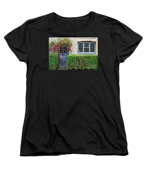 Women's T-Shirt (Standard Cut) featuring the photograph Cotswolds Cottage Home by Brian Jannsen