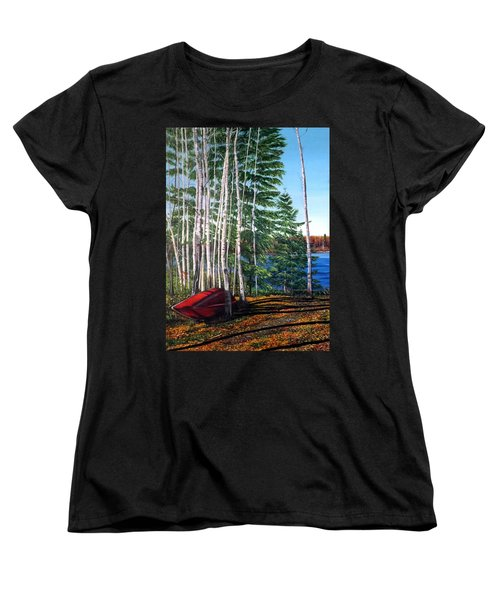 Cottage Country Women's T-Shirt (Standard Cut) by Marilyn McNish