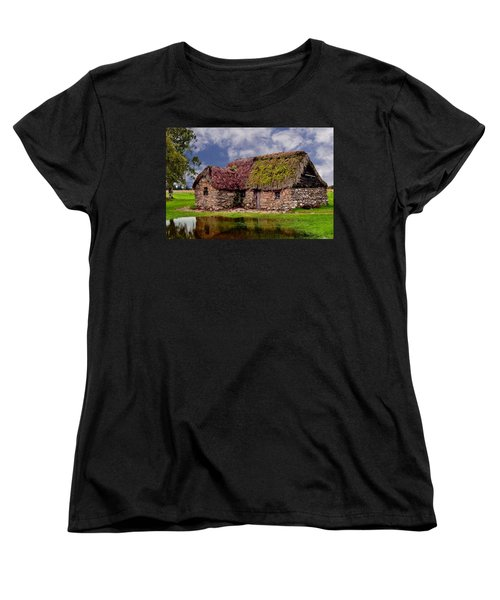 Cottage In The Highlands Women's T-Shirt (Standard Cut) by Anthony Dezenzio