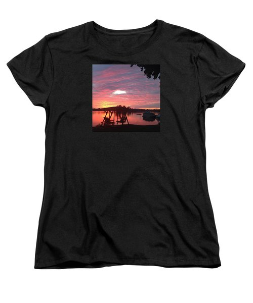 Cotton Candy Sunset Women's T-Shirt (Standard Cut) by Rebecca Wood