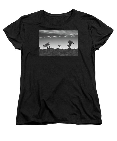 Cotton Sky On Joshua Trees Women's T-Shirt (Standard Cut) by Joseph Westrupp