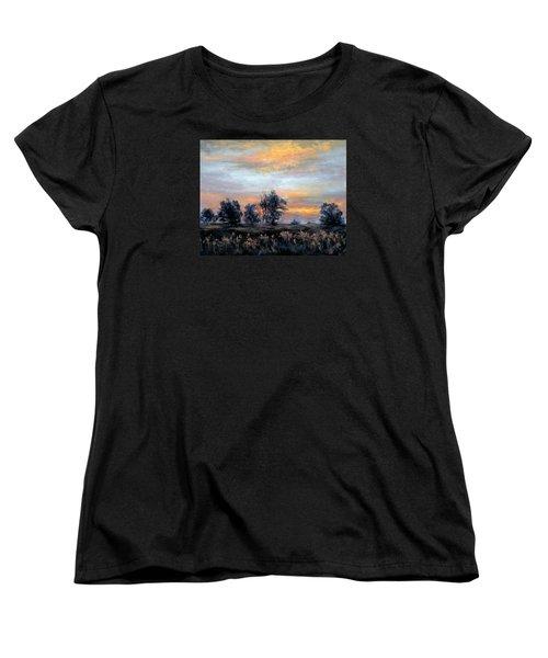 Cottonwoods At Sunset Women's T-Shirt (Standard Cut) by Jill Musser