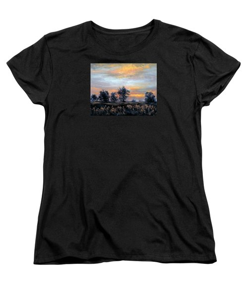 Cottonwoods At Sunset Women's T-Shirt (Standard Cut)