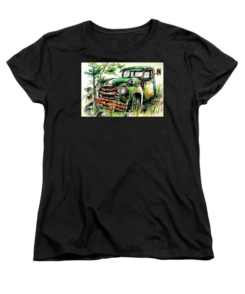 Women's T-Shirt (Standard Cut) featuring the painting Country Antiques by Terry Banderas