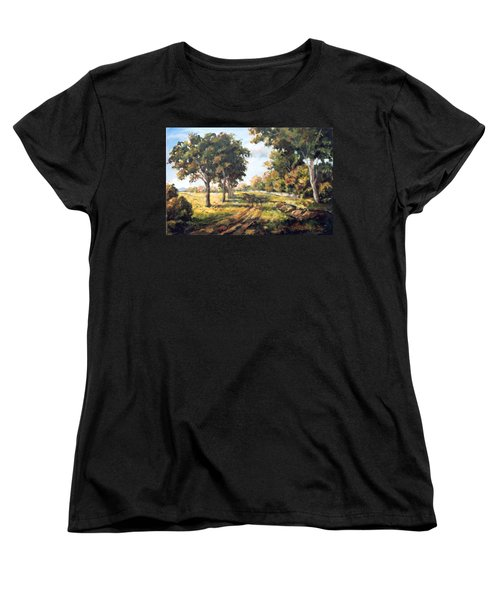 Countryside Women's T-Shirt (Standard Cut) by Alexandra Maria Ethlyn Cheshire