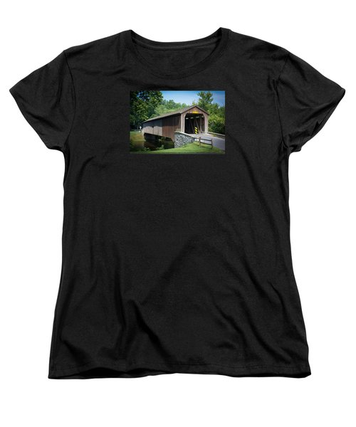 Covered Bridge Women's T-Shirt (Standard Cut) by Kenneth Cole