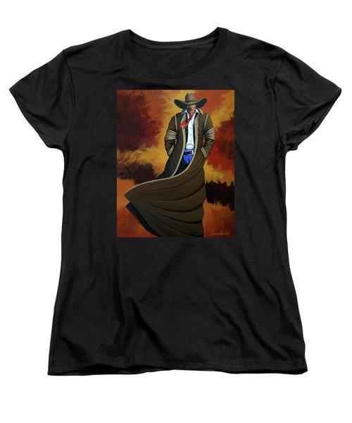 Cowboy Dust Women's T-Shirt (Standard Cut) by Lance Headlee
