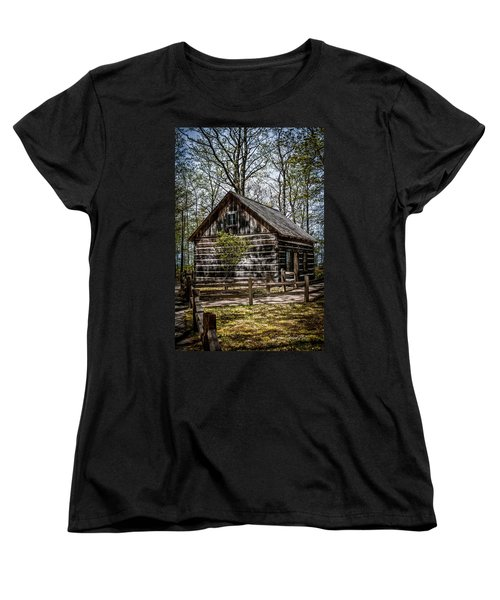 Cozy Cabin Women's T-Shirt (Standard Cut) by Joann Copeland-Paul