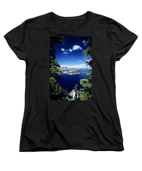 Crater Lake Women's T-Shirt (Standard Cut) by Allan Seiden - Printscapes