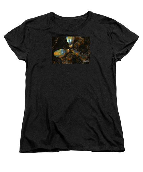 Women's T-Shirt (Standard Cut) featuring the digital art Crawdad by Melissa Messick