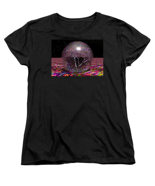 Crazy World Women's T-Shirt (Standard Cut) by Robert Orinski