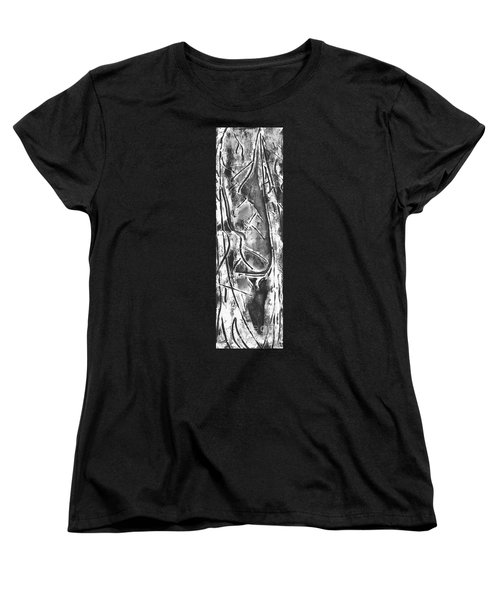 Women's T-Shirt (Standard Cut) featuring the painting Creator by Carol Rashawnna Williams