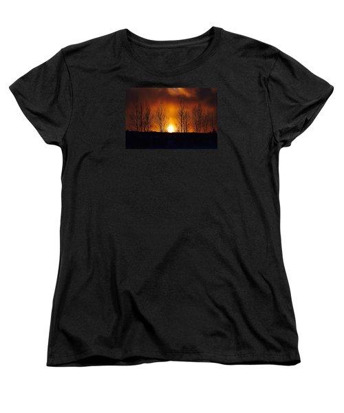 Women's T-Shirt (Standard Cut) featuring the photograph Crisp Sunset by Dacia Doroff