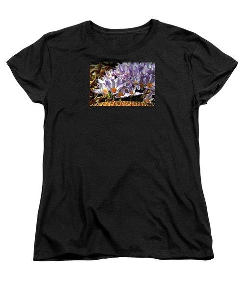 Crocuses Serenade Women's T-Shirt (Standard Cut) by Ed  Riche