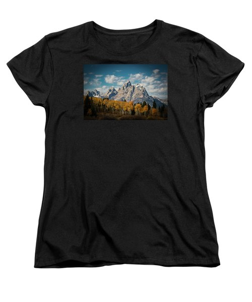 Crown For Tetons Women's T-Shirt (Standard Cut) by Edgars Erglis