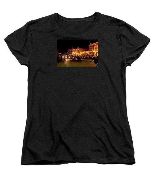 Cruise Night At The Car Show Women's T-Shirt (Standard Cut) by Karen McKenzie McAdoo