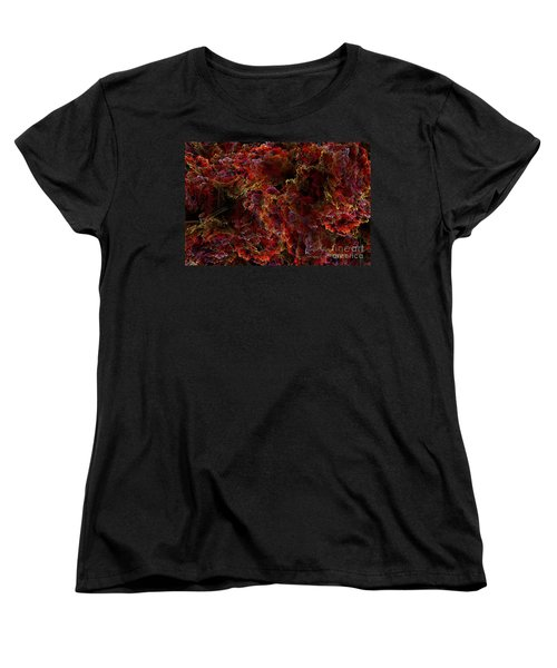 Women's T-Shirt (Standard Cut) featuring the digital art Crystal Inspiration Number Two Close Up by Olga Hamilton