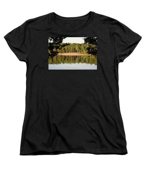 Crystal Lake In Whitehall Mi Women's T-Shirt (Standard Cut) by Ferrel Cordle