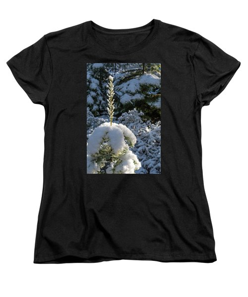 Women's T-Shirt (Standard Cut) featuring the photograph Crystal Tree by Jan Davies