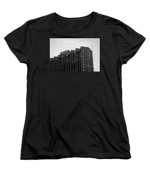 Women's T-Shirt (Standard Cut) featuring the photograph Cubicle Farm by Valentino Visentini
