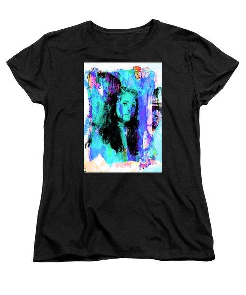 Women's T-Shirt (Standard Cut) featuring the photograph Cuenca Kids 892 by Al Bourassa