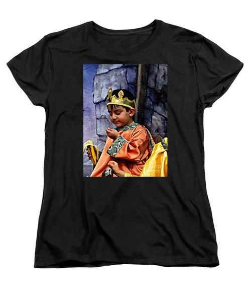 Women's T-Shirt (Standard Cut) featuring the photograph Cuenca Kids 903 by Al Bourassa