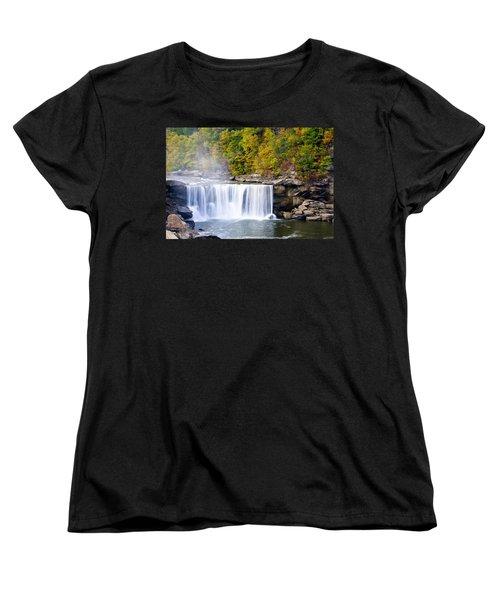 Cumberland Falls Women's T-Shirt (Standard Cut) by Alexey Stiop