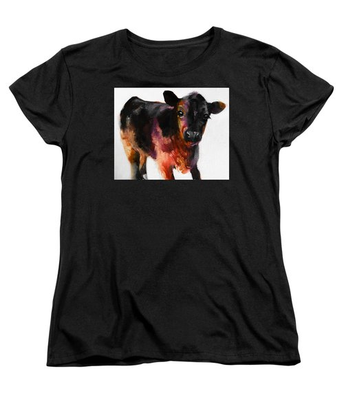 Buster The Calf Painting Women's T-Shirt (Standard Cut) by Michele Carter