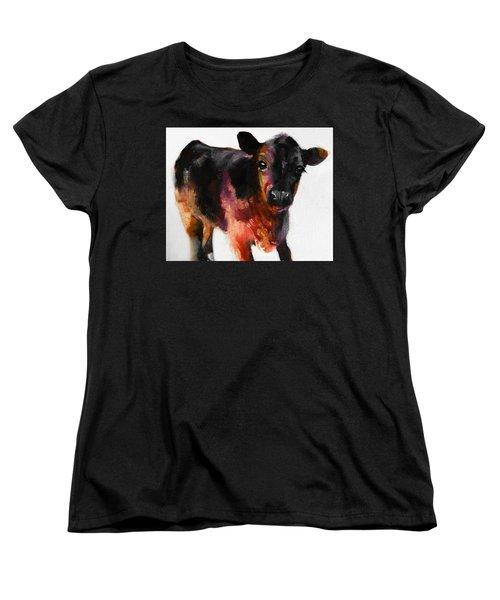 Buster The Calf Painting Women's T-Shirt (Standard Cut)