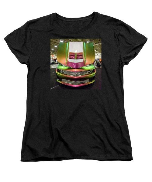 Women's T-Shirt (Standard Cut) featuring the photograph Custom Camaro by Randy Scherkenbach