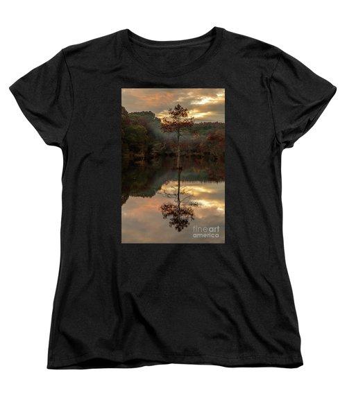 Cypress At Sunset Women's T-Shirt (Standard Cut) by Iris Greenwell