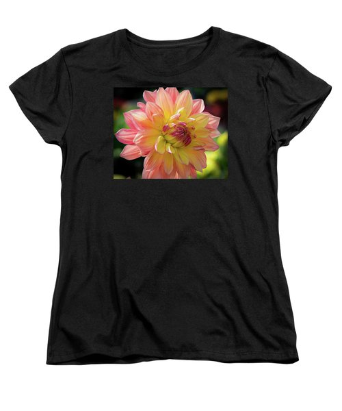 Women's T-Shirt (Standard Cut) featuring the photograph Dahlia In The Sunshine by Phil Abrams