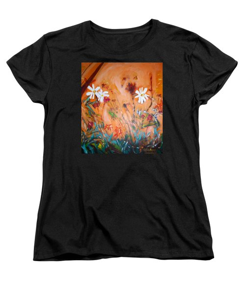 Daisies Along The Fence Women's T-Shirt (Standard Cut) by Winsome Gunning