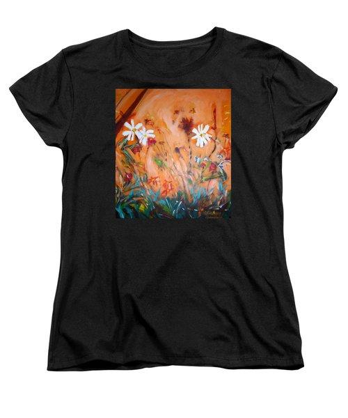 Daisies Along The Fence Women's T-Shirt (Standard Cut)