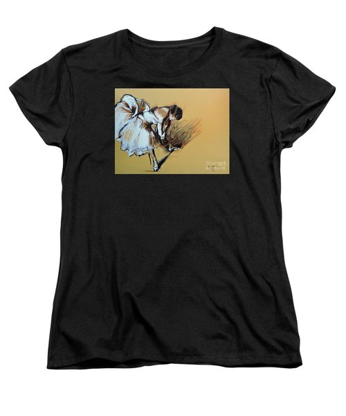 Dancer Adjusting Her Slipper Women's T-Shirt (Standard Cut)